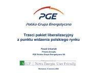 Trzeci pakiet liberalizacyjny z punktu widzenia polskiego rynku