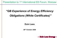 White certificates in UK - EFIEES