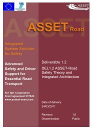 ASSET Deliverable 1.2, Safety Theory And Integrated Architecture