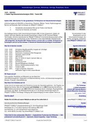 Veranstaltungen: Seminare, Workshops, Vorträge, Roadshows, Kurse