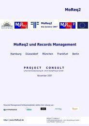 MoReq2 - Project Consult Unternehmensberatung Dr. Ulrich ...
