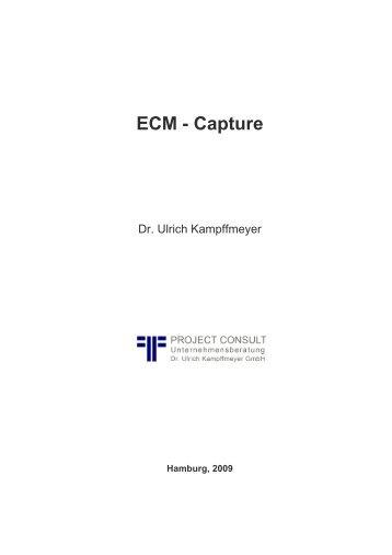 ECM - Capture - Project Consult Unternehmensberatung Dr. Ulrich ...