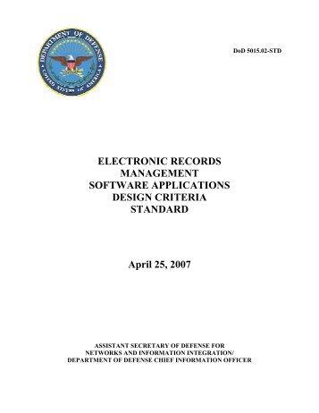 DoD 5015.02-STD - Joint Interoperability Test Command - Defense ...