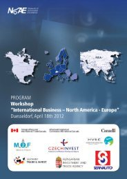 International Business – North America - Europe - Project Days