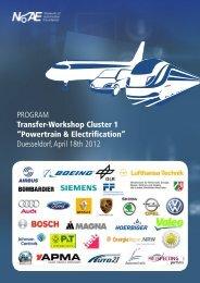 "PROGRAM Transfer-Workshop Cluster 1 ""Powertrain ... - Project Days"