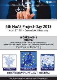 6th NoAE Project-Day 2013 - project days