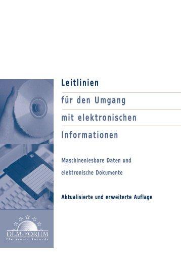 Leitlinien für den Umgang mit elektronischen Informationen