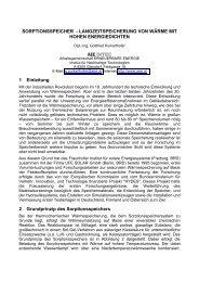 SORPTIONSSPEICHER - bei AEE - Institut für Nachhaltige ...
