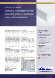 AKOTHERM® BASIC - Witteveen Projectinrichting
