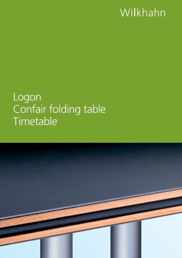 Logon Confair folding table Timetable - Witteveen Projectinrichting