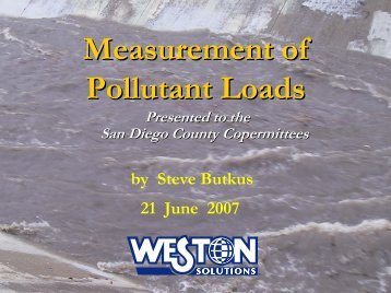 Measurement of Pollutant Loads - Project Clean Water