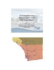 Hydromodification Requirements in the San Diego Region