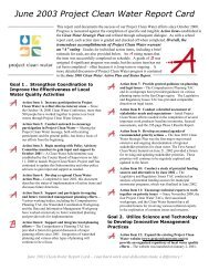 June 2003 Project Clean Water Report Card