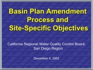 Basin Plan Amendment Process and Site-Specific Objectives
