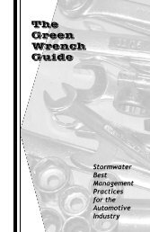 Green Wrench Guide - Project Clean Water
