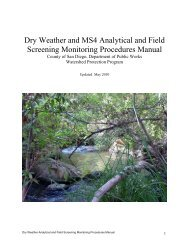 Dry Weather and MS4 Analytical and Field Screening Monitoring ...