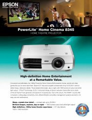 PowerLite® Home Cinema 8345 - Product ... - Projector Central