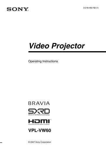 Marantz Vp8000 Video Projector Service Manual Download