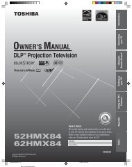 Owner's Manual - Specs and reviews at HDTV Review