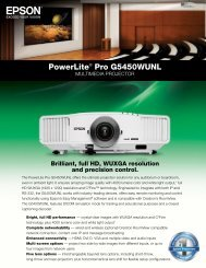 PowerLite® Pro G5450WUNL - Projector People