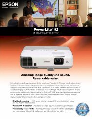PowerLite® 92 - Projector People