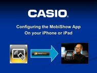Configuring the MobiShow App On your iPhone ... - Projector People