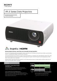 VPL-E Series Data Projectors - Projector People