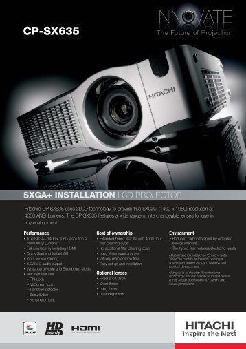 Hitachi's CP-SX635 - Projector Reviews