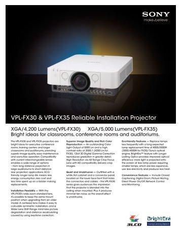 Sony VPL-FX35 - Projector People