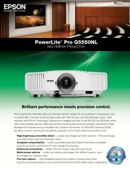 PowerLite® Pro G5550NL - Projector People