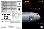 Mitsubishi HC7900DW Projector Data Sheet