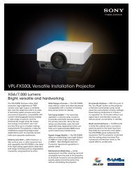 Sony VPL-FX500L - Projector People