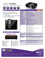 BenQ SH960 - Projector People