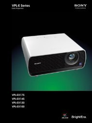 Sony VPL-EX175 - Projector People
