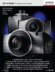 CP-X10000 Professional Series - Projector People