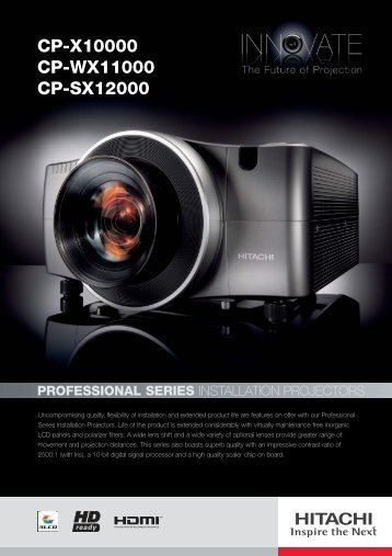 CP-X10000 CP-WX11000 CP-SX12000 - Projector Reviews