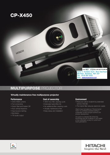 CP-X450 - Projector