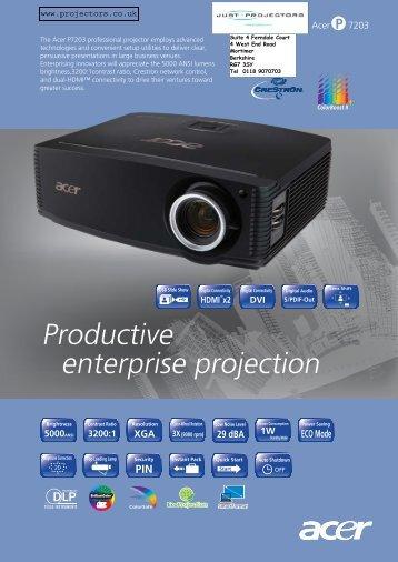 Productive enterprise projection - Projector