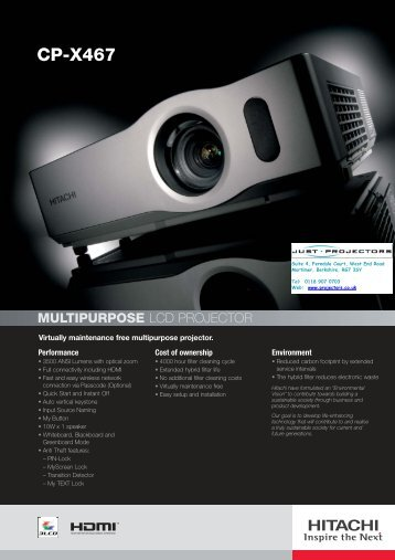 CP-X467 - Projector