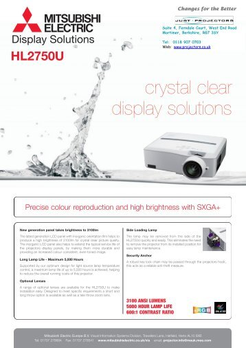 crystal clear display solutions - Projector