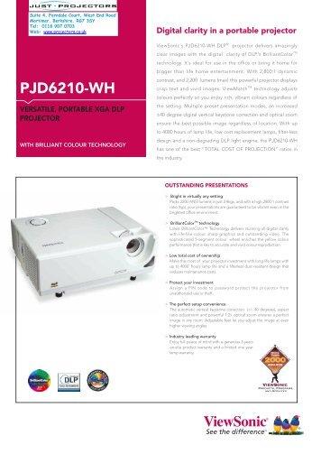 PJD6210-WH datasheet_VSE.indd - Projector