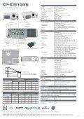 CP-X2514WN - Hitachi Digital Media - Page 2