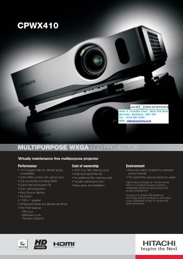 CPWX410 - Projector