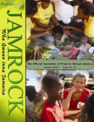 1,41MB Jamaica Newsletter - January 2010 - Projects Abroad