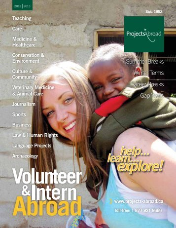 Canadian Brochure - Projects Abroad
