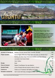 Projects Abroad South African Newsletter FEBRUARY 2012 Projects ...