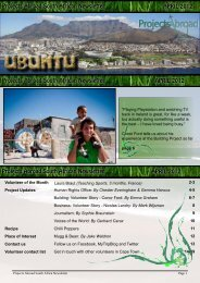 Projects Abroad South African Newsletter APRIL 2012 Projects ...