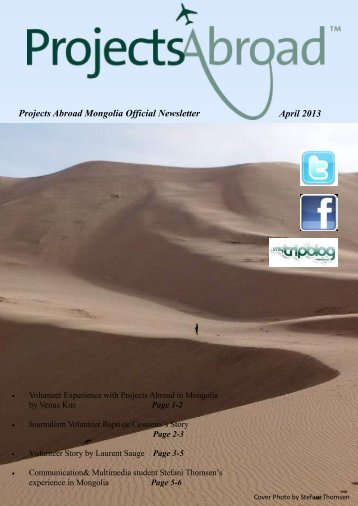 Projects Abroad Mongolia Official Newsletter April 2013