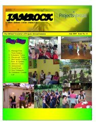 1,67MB Jamaica Newsletter - July 2009 - Projects Abroad