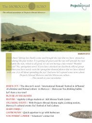 The MOROCCO ECHO The official newsletter of Projects Abroad ...